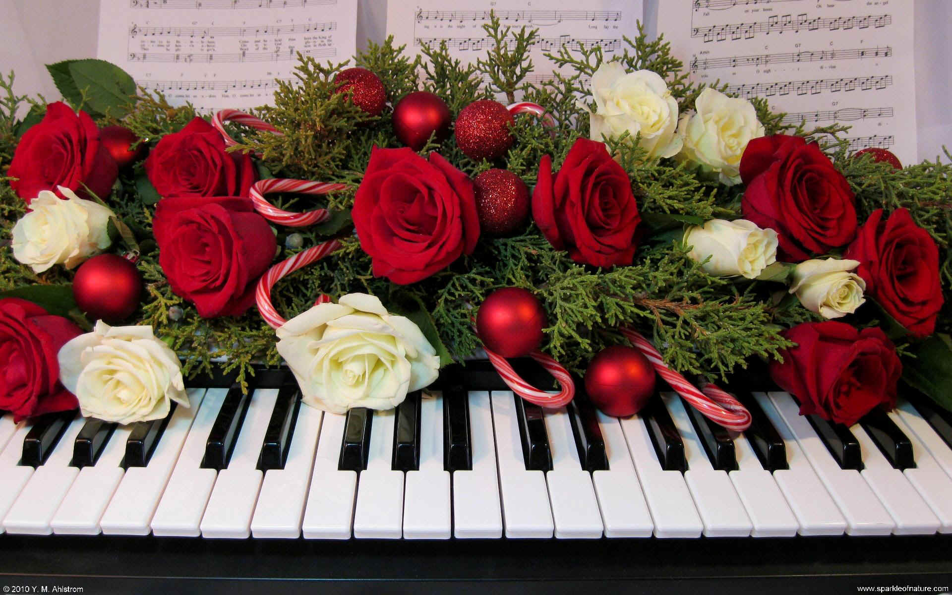 christmas piano wallpaper - photo #7